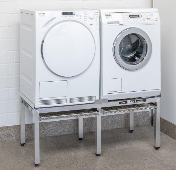 "Waschmaschinensockel Mara Doppelplatz mit Auszügen ""Mara 2 Premium 6"" (865/24)"