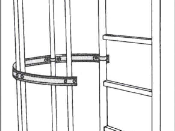 3/4 Rückenschutzbuegel für Leitertyp 9289