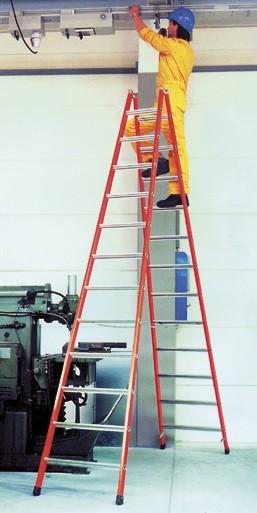 Kunststoff-Breitsprossen-Stehleiter