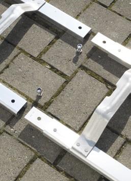Dachdecker-Auflegeleiter Aluminium