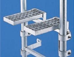 Einklappbare Ruhepodeste DBGM passend fuer Leitertyp 9290 / 9294