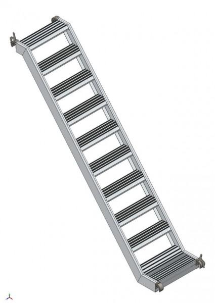 Rollgerüst Alu-Treppe 1,80 m mit Podest