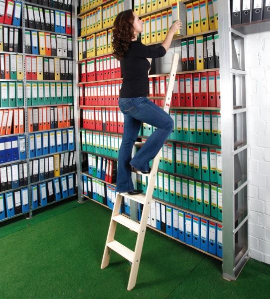 Stufen-Anlegeleiter Holz / Hochbettleiter