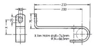 Wandbefestigung zum Anschrauben für Leitertyp 9289