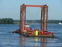Rückbau der alten Rheinbrücke bei Wesel