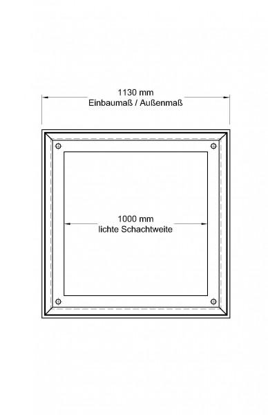Schachtabdeckung Aluminium, tagwasser- u. geruchsdicht,